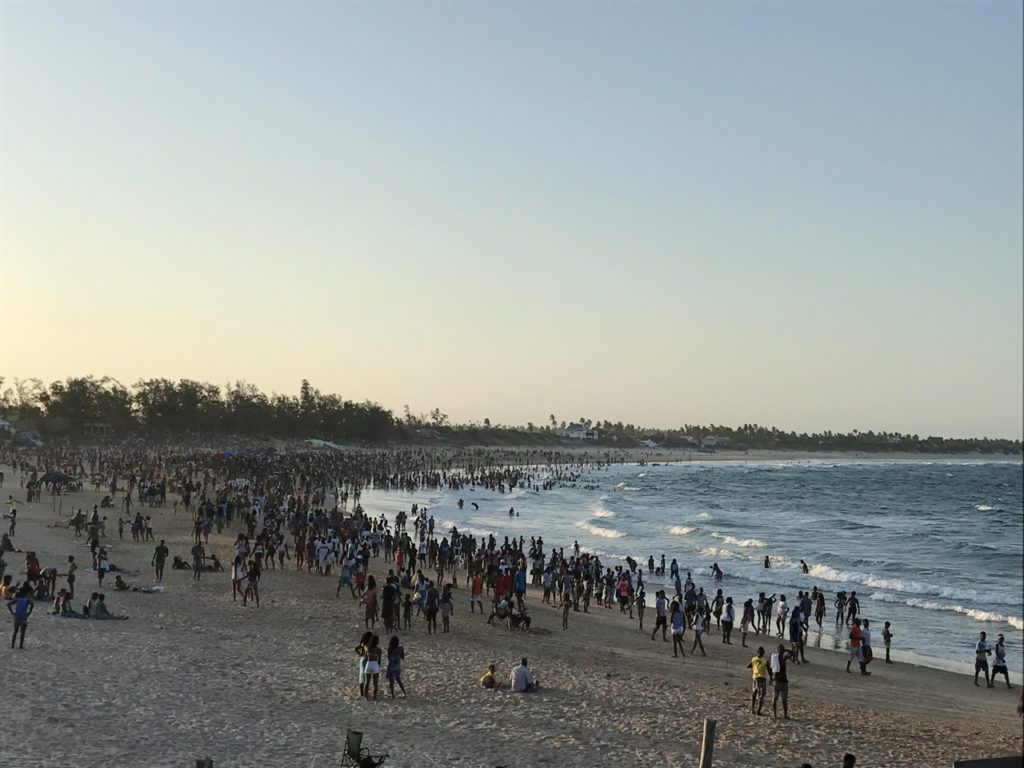 New year's eve on Tofo beach, Mozambique