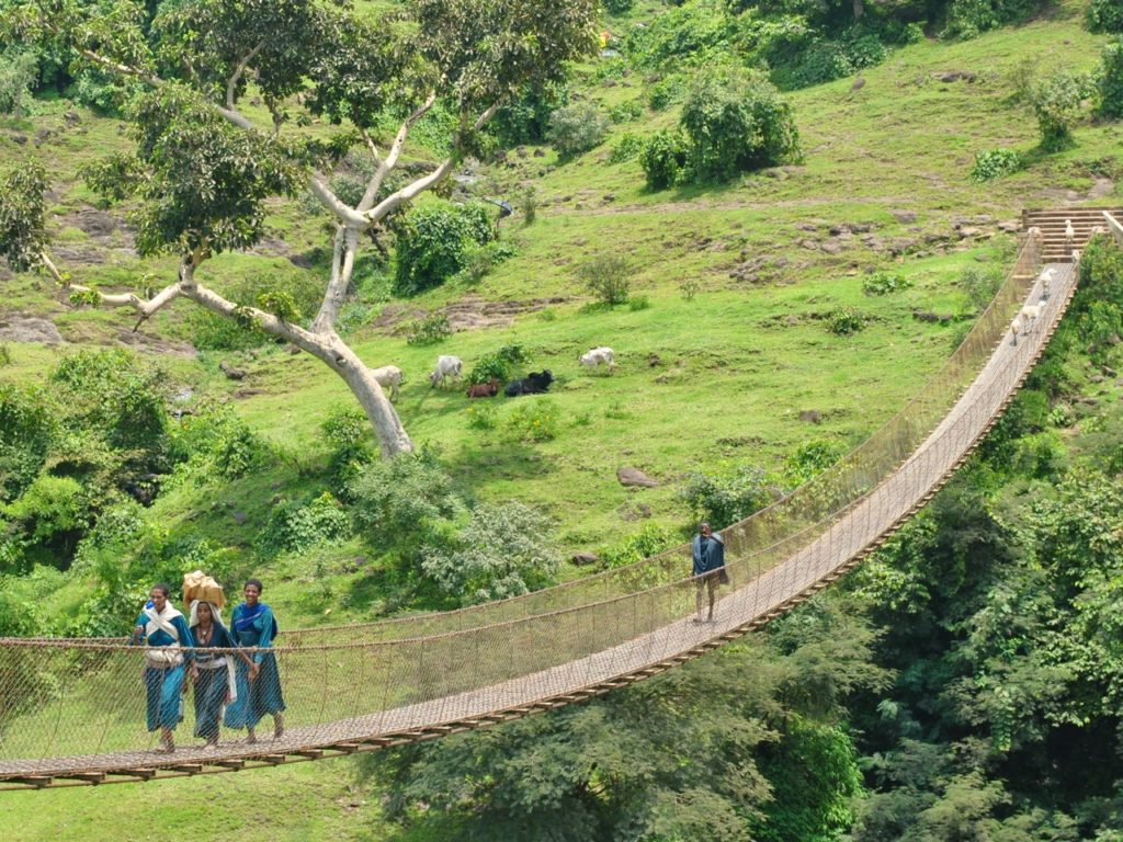 Suspension bridge, Blue Nile falls, Ethiopia
