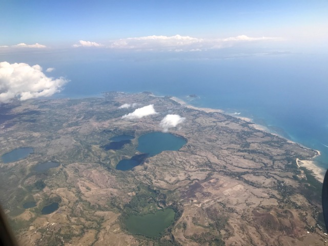 Nosy Be Madagascar from airplane
