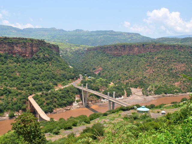 The two bridges across Blue Nile Gorge, Ethiopia