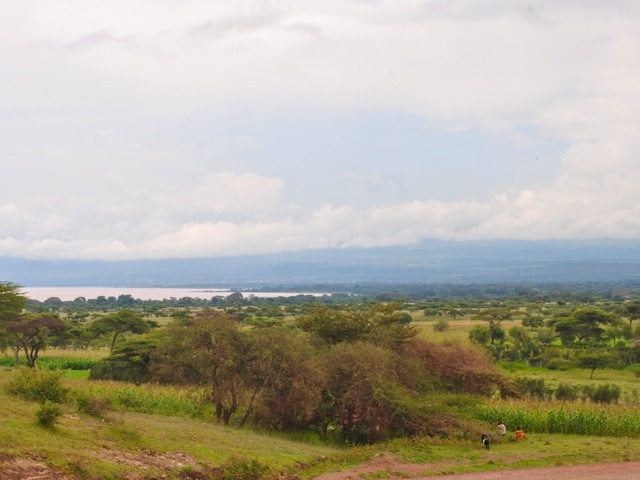 View on Langano lake from the road at the souther side of the lake, Ethiopia