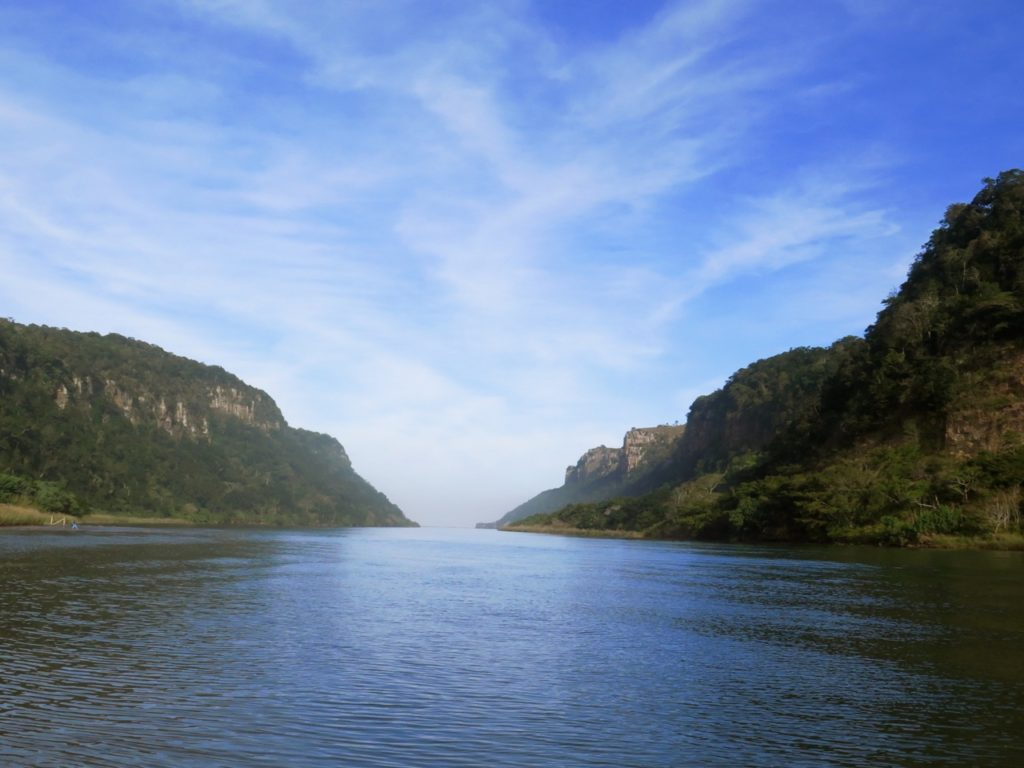 Mzimvubu river towards Port St John, South Africa
