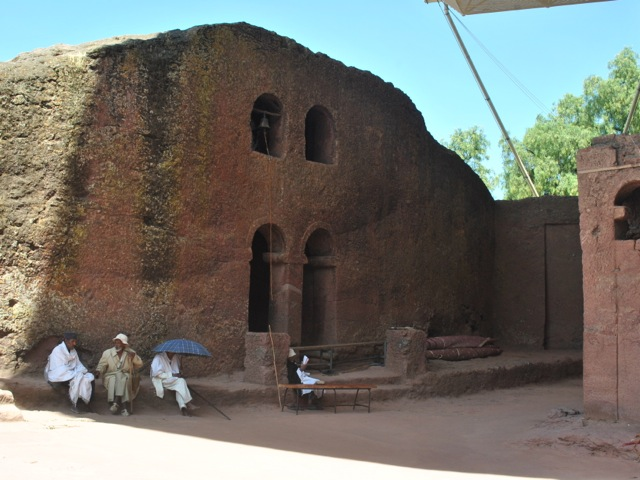 Courtyard near Bet Maryam, Lalibela, Ethiopia