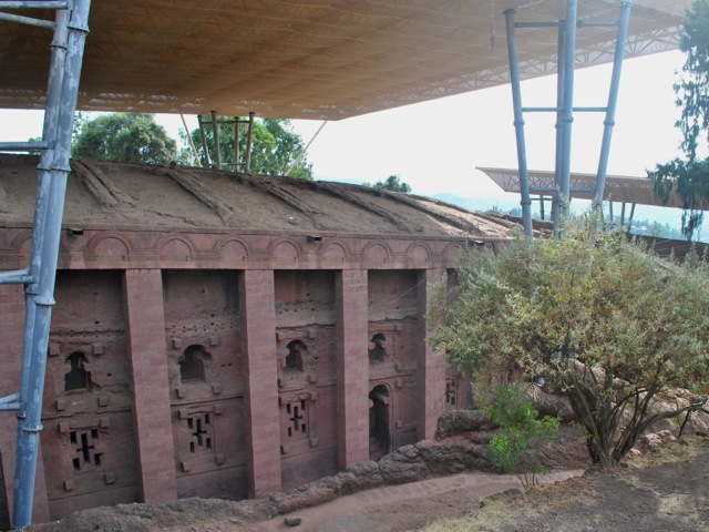 Bet Medhane Alem - the largest of Lalibela churches, Ethiopia