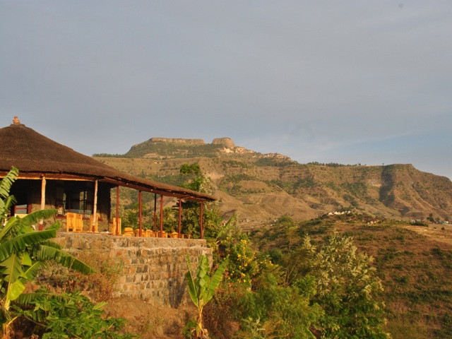 Sunset at Sora lodge, Ethiopia