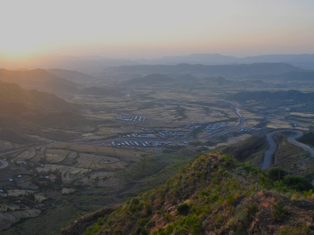 Sunset view from Ben Abeba restaurant, Ethiopia