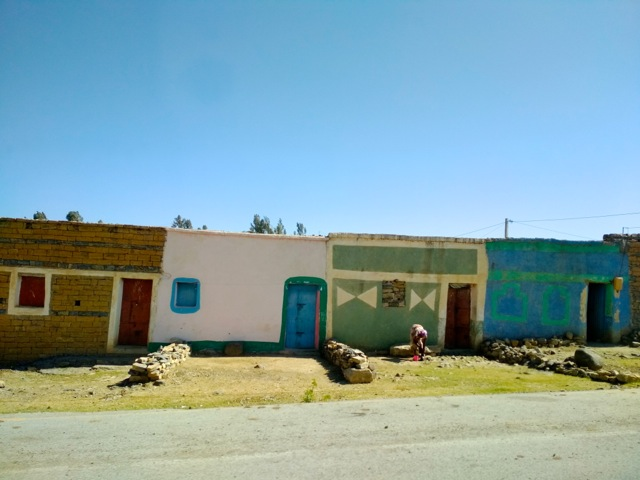 Houses in a village near Mekele on the road towards Afar, Ethiopia