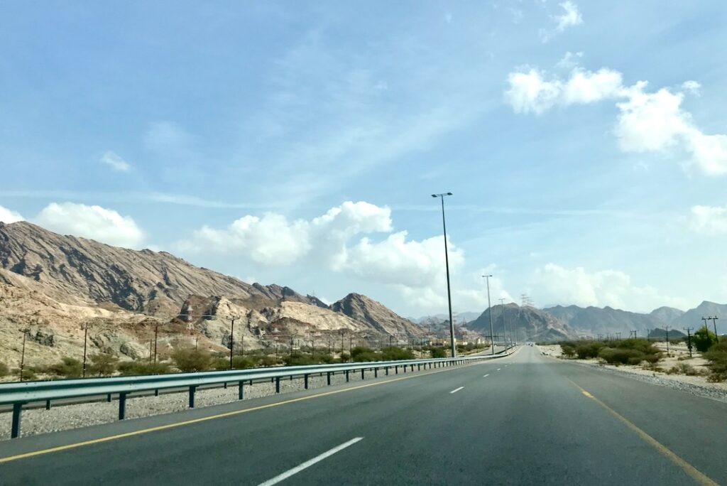 View on the road from Muscat towards Wadi Shab, Oman