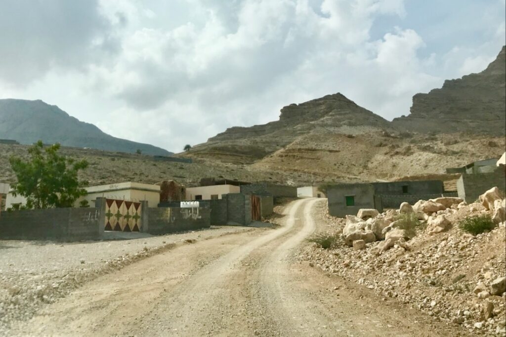 Road in the mountains near Tiwi, Oman