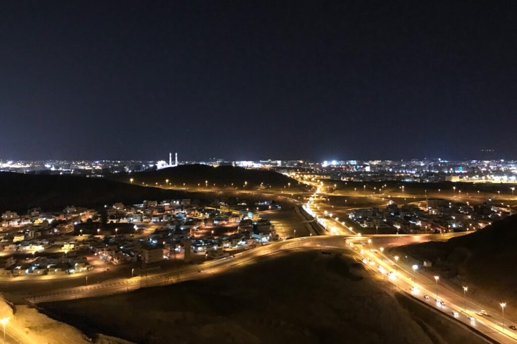 View of Muscat at night, Oman
